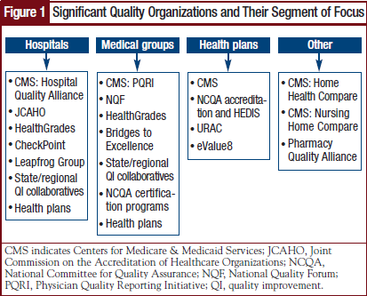 Significant Quality Organizations and Their Segment of Focus